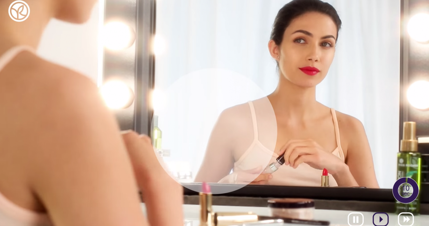 Barbara for Yves Rocher. Red lips tutorial
