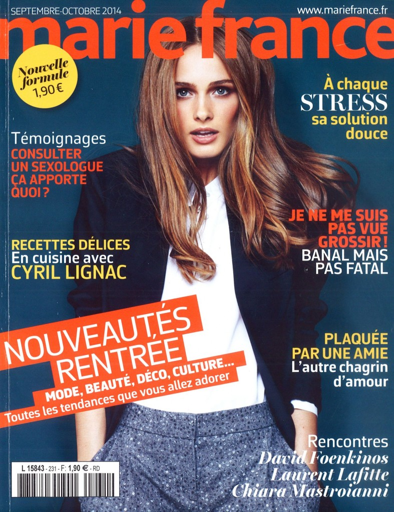 Gabriela is in cover of Marie-France: