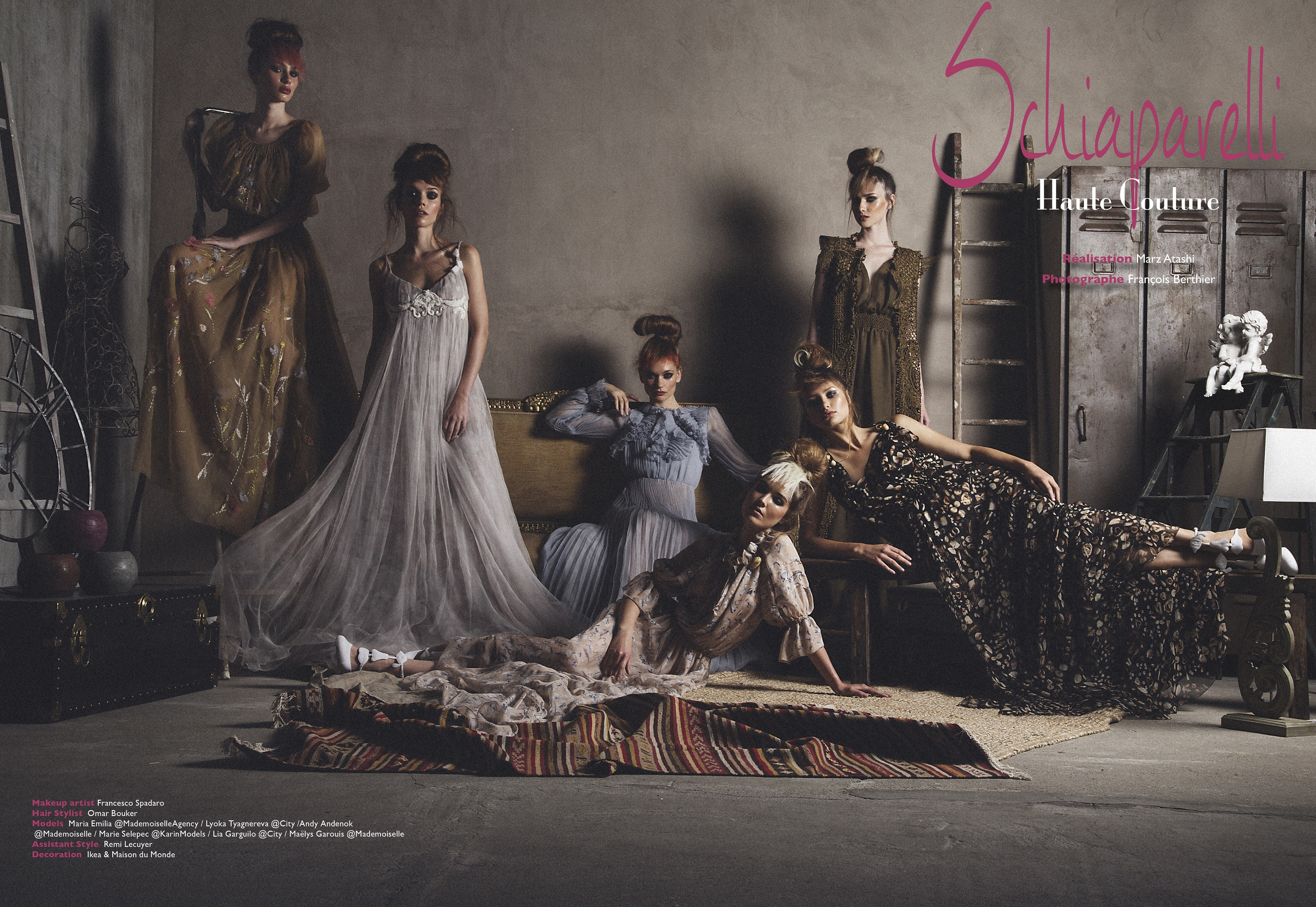 Maria-Emilia, Maelys and Andy for Prestige Magazine by François Berthier